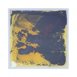 Panel sensoryczny 50x50 cm CZARNY / ŻOŁTY