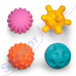 Piłki sensoryczne z grzechotką
