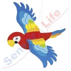 Kolorowa papuga 3D